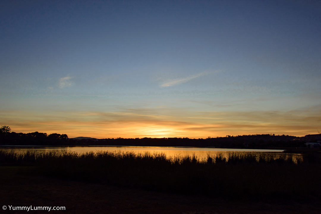 Sunrise over Lake Ginninderra on a Saturday morning  NIKON D810 with 28.0-300.0 mm f/3.5-5.6 at 28mm and f/8, 1/500sec, ISO 400