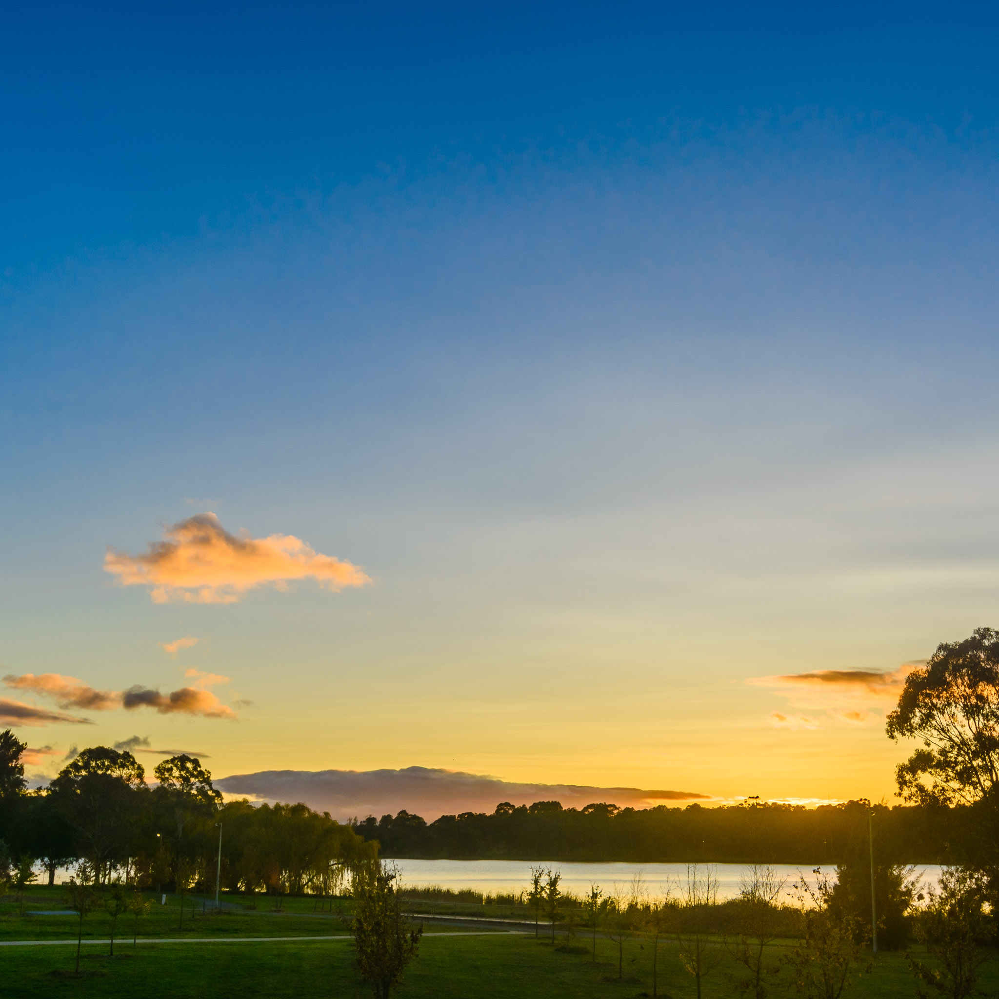 Sunrise over Lake Ginninderra