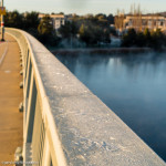 Frosty railing
