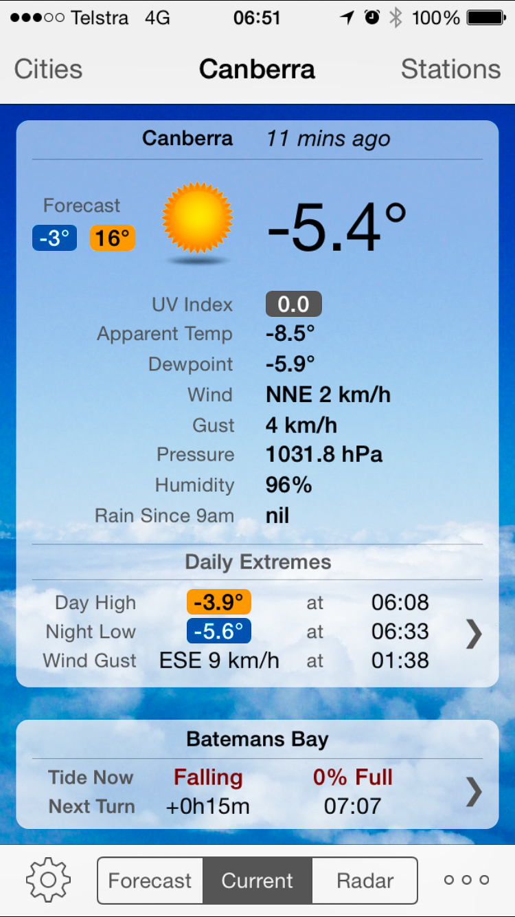 A subzero morning in Canberra